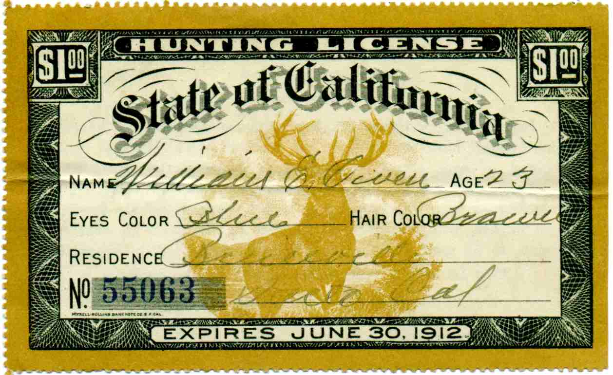 California hunting license